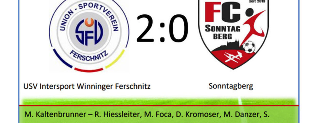U23: USV Intersport Winninger Ferschnitz - Sonntagberg 2:0