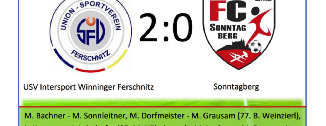 USV Intersport Winninger Ferschnitz - Sonntagberg 2:0